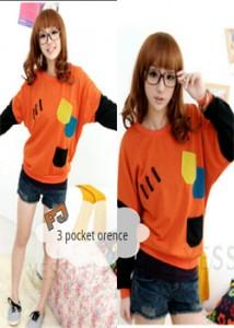 3 pocket orange