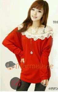 Sabrina Lace Bahan Rajut. All Size Fit to L @ Rp 40.000