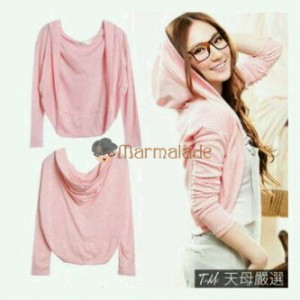 Baby Hoodie Pink Bahan Rajut. All Size Fit to L Rp 40.000