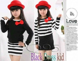 blackdress  all size ( 5-7 tahun) Rp 40.000