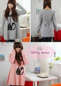 kitty dress Rp 40.000