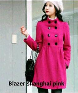 shanghai pink blazer  Rp 37.000