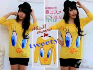 Tweety Bahan Rajut. All Size Fit to L @ Rp 40.000