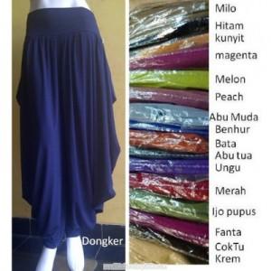 Celana pari lebar Bahan Spandex Rayon & Jersey Motif & Polos Rp 65.000