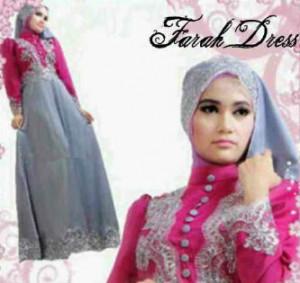 Farah Dress All Size fit L Mat. Saten comb. Brukat Rp 125.000