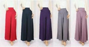 Celana Kulot Bahan Spandex Rayon & Jersey. Motif & Polos. Rp 50.000