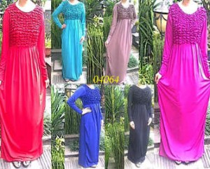 Gamis  All Size Fit XL Mat. Jersey Rp 120.000
