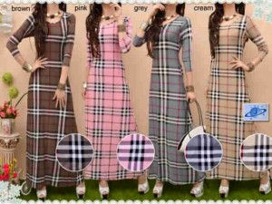 SimPly Burbery Maxi All size fit L Mat. Spandex Jersey Rp 85.000