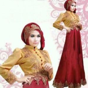 Farah dress all size matt. Satin comb. brukat Rp 125.000